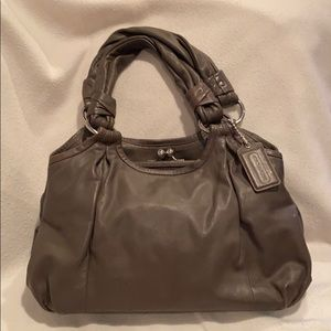 Coach dark taupe leather purse